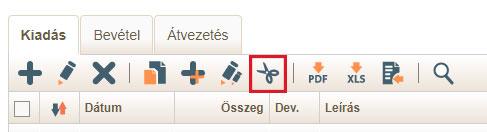 Tranzakció bontás ikon